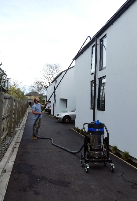 Gutter Cleaning using the SkyVac