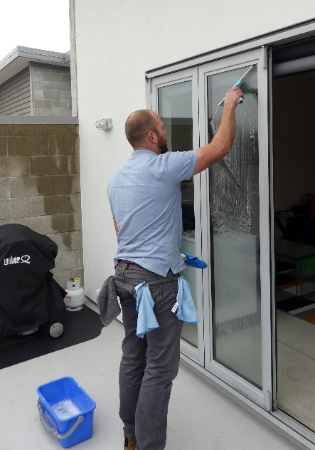 Using the Squeegee and Mop